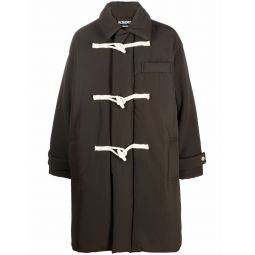 Jacquemus single-breasted duffle coat green