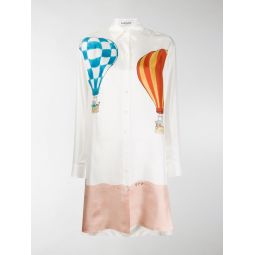 Sale LANVIN Barbar print shirt dress white