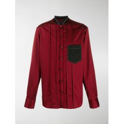 Sale LANVIN bomber-style collar shirt red