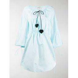 Sale LANVIN jacquard-knit puffed dress blue