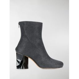 Sale Maison Margiela crushed heel ankle boots black