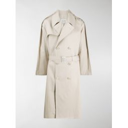 Sale Maison Margiela double-breasted belted trench coat neutrals