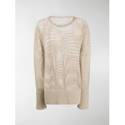 Sale Maison Margiela open knit jumper neutrals