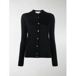 Marni contrasting trim V-neck cardigan black