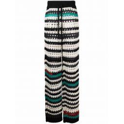 Marni crochet straight-leg trousers black