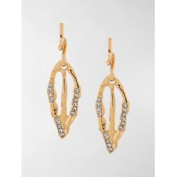 Marni crystal-embellished drop earrings gold