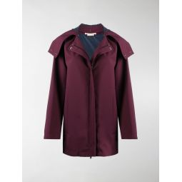 Marni short hooded jacket red