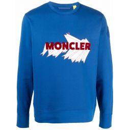 Moncler Genius 2 Moncler 1952 logo-embroidered sweatshirt blue