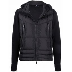 Moncler Grenoble panelled padded jacket black