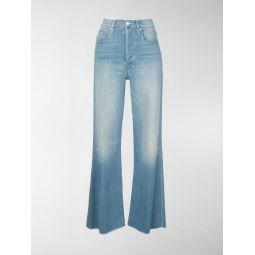 Sale Mother high rise flared jeans blue