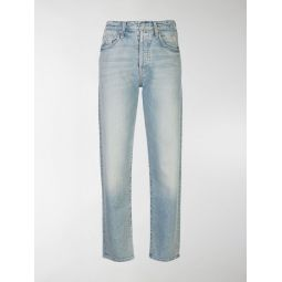 Sale Mother The Huffy Flood straight-leg jeans blue