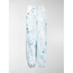 Sale Off-White bleached tapered jeans blue