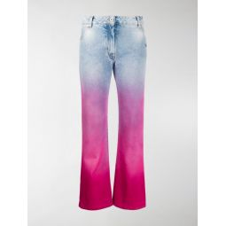 Sale Off-White degrade cropped jeans blue
