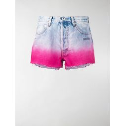 Sale Off-White degrade-effect denim shorts blue