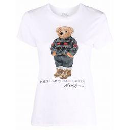Polo Ralph Lauren Polo Bear-print short-sleeved T-shirt white