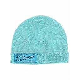 Raf Simons logo-patch beanie blue
