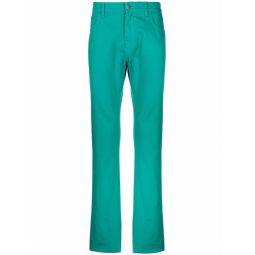 Raf Simons logo-patch straight-leg trousers green
