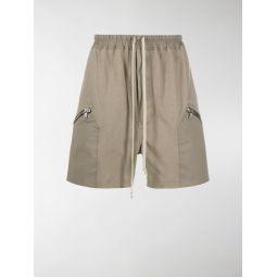 Rick Owens drawstring cargo shorts neutrals