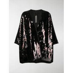Sale Rick Owens oversized sequin kimono black