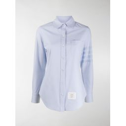 Thom Browne 4-bar long sleeves shirt blue
