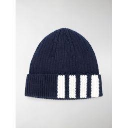 Thom Browne 4-Bar striped beanie blue