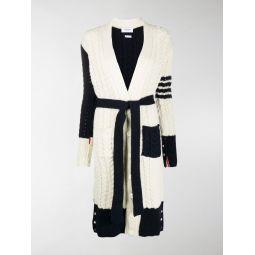 Thom Browne 4-Bar V-neck cardi-coat white