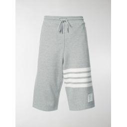 Thom Browne Engineered 4-Bar Jersey Sweatshort grey