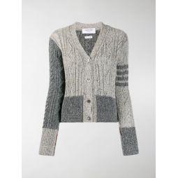 Thom Browne Fun Mix cable-knit cardigan grey