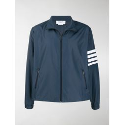 Thom Browne funnel neck zip-up jacket blue