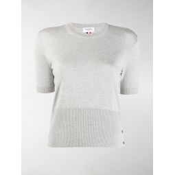 Thom Browne relaxed-fit RWB-stripe knitted top grey