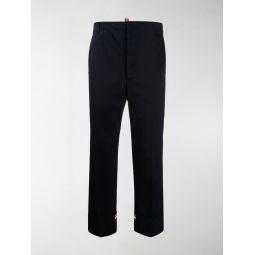Thom Browne twill straight-leg trousers blue