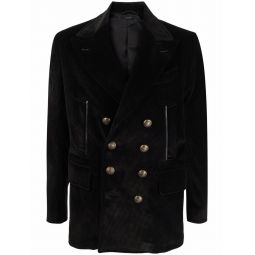 TOM FORD double-breasted corduroy blazer black
