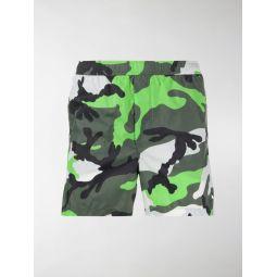Sale Valentino camouflage-print swim shorts green