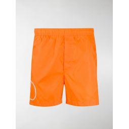 Sale Valentino logo print swim shorts orange