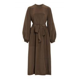 Parachute Belted Silk Dress