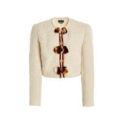 Gradiazi Embellished Faux Shearling Jacket