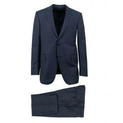 ERMENEGILDO ZEGNA Blue Wool Two Button Suit