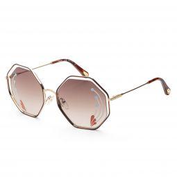 Chloe Womens CE132SRI-258 CE 58 mm Havana Sunglasses
