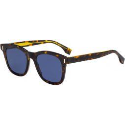 Fendi Mens FF-M0040-S-0086-50-20 Fashion 50mm Dkhavana D Frame Sunglasses