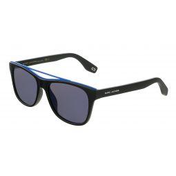 Marc Jacobs Matte Black/Blue Rectangle MARC303S 3 Sunglasses