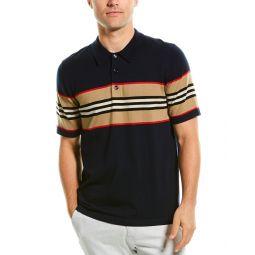 Burberry Icon Stripe Detail Wool Polo Shirt