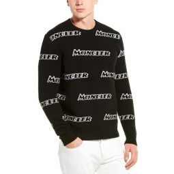 Moncler Wool & Cashmere-Blend Crewneck Sweater