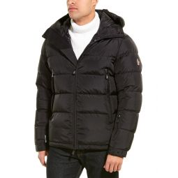Moncler Logo Print Quilted Down Coat