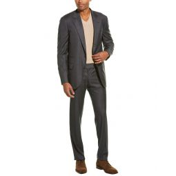 Brunello Cucinelli Wool Suit With Flat Front Pant