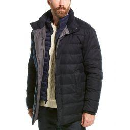 Cole Haan Flannel Down Coat