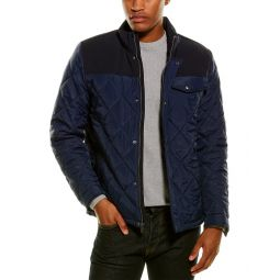 Cole Haan Diamond-Quilted Mixed Media Jacket