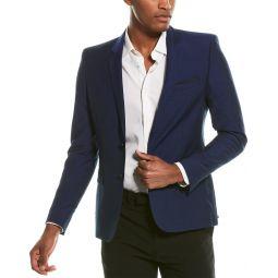 The Kooples Double Irregular Seams Wool-Blend Blazer