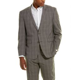 Vince Camuto 2Pc Wool-Blend Suit With Flat Front Pant