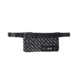 Versace Jeans Couture Black/White Logo All Over Adjustable Waist Bag/Fanny Pack