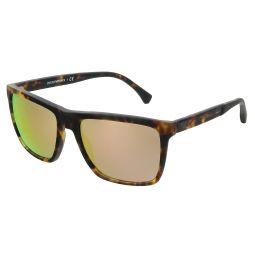 Emporio Armani Matte Blonde Havana Rectangle 0EA4117 57044Z Sunglasses